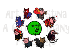 Pig Avengers: Group