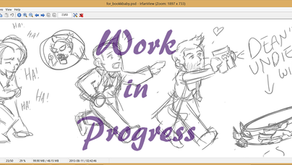 Art W.I.P.: Helping Bookky Write Destiel