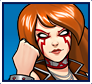 "A gif set featuring, rank 01, Angela from the Marvel Comics phone game ""Avengers Academy""."