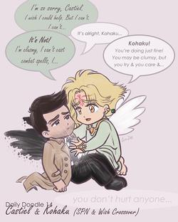 Castiel and Kohaku Friendship
