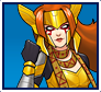"A gif set featuring, rank 03, Angela from the Marvel Comics phone game ""Avengers Academy""."