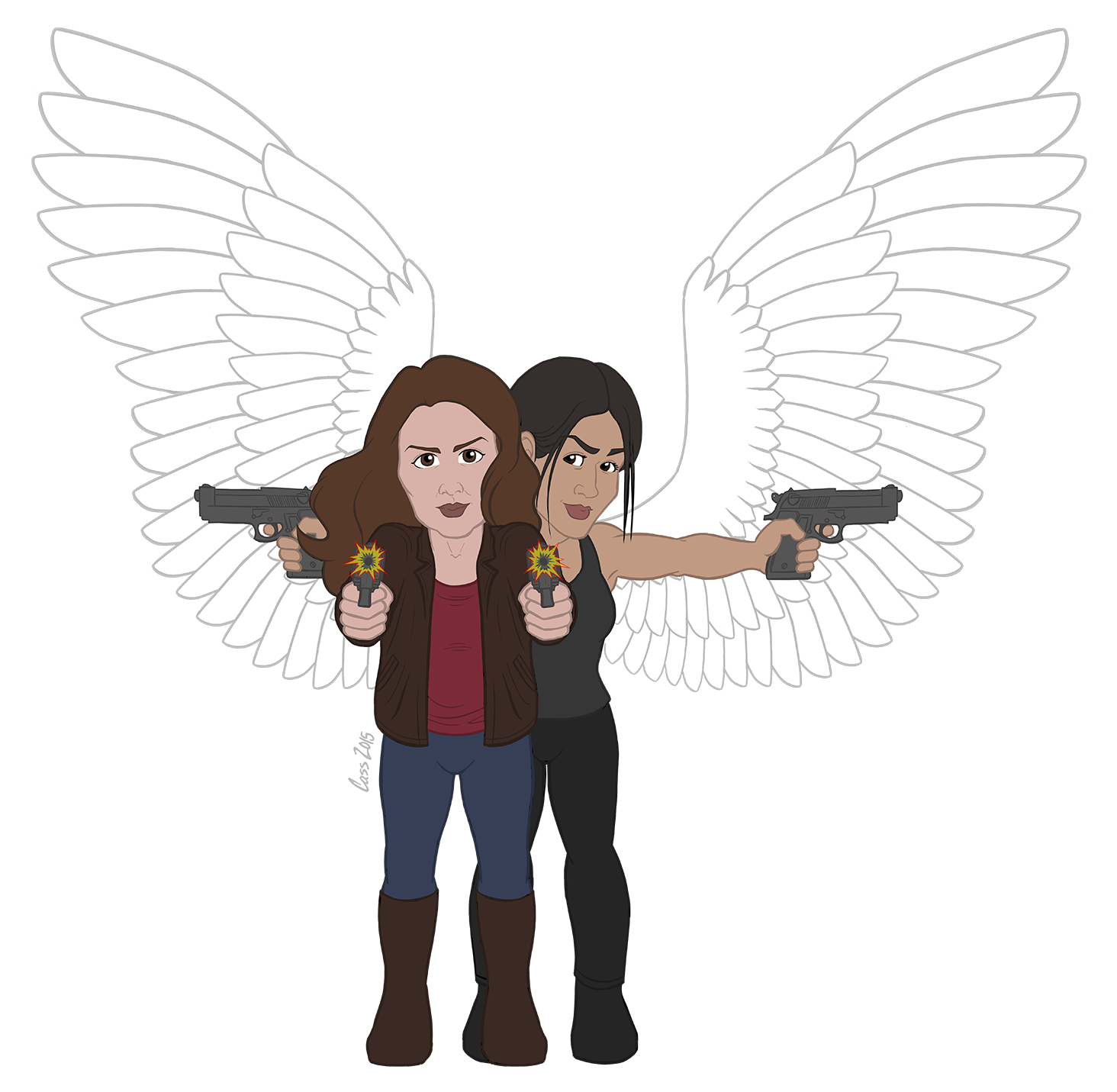 POI Chibi: Team Shoot (with wings)