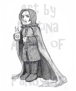 Chibi Snape (Smiley Face Mug)