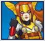 "A gif set featuring, rank 05, Angela from the Marvel Comics phone game ""Avengers Academy""."