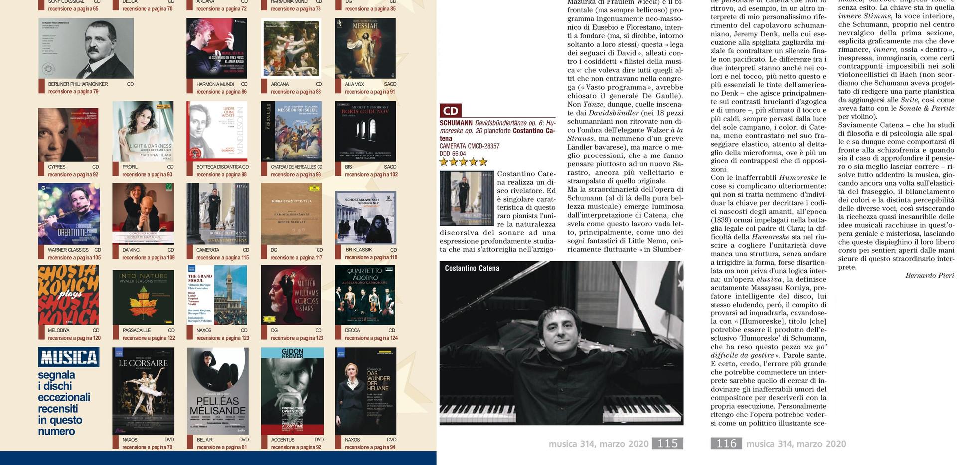 recensione MUSICA Schumann marzo 2020