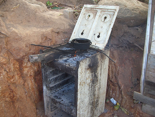 Where meals are cooked for several families.