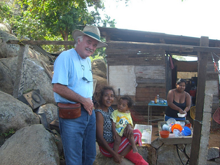Dr. Steven Hoefflin visiting the shanty town slums in Acapulco, Mexico.