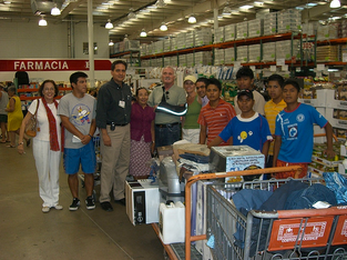 Dr. Steven Hoefflin buying supplies at Costco in Mexico.