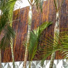 Cerca de Bambu Queimado