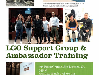 LGO Support Group & Ambassador Training Monday 3/25 6-8pm