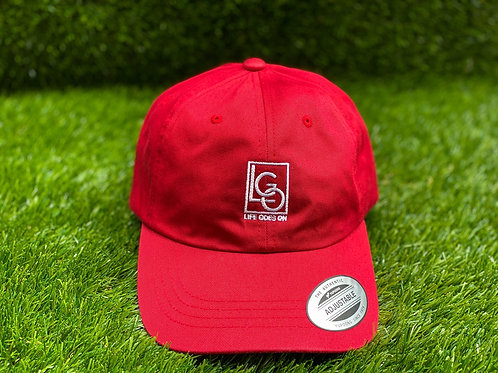 LGO Embroidered Dad Cap - Red