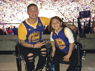 Team LGO makes Jazzy's wish by meeting Draymond at a Warriors game