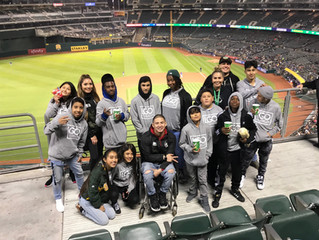 LGO Teen Leadership Program trip to the A's game