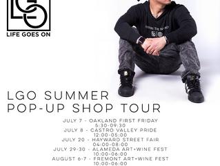 LGO Pop-Up Shop Dates in July
