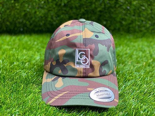 LGO CAMO/WHITE DAD CAP