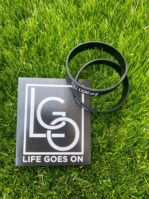 LIFE GOES ON wristband + decal sticker