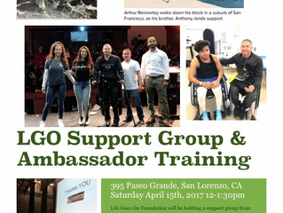 Join us at our LGO Support Group 4/15 @ noon