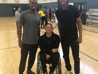 Raiders WR Seth Roberts and Jhavid Best visit LGO Teen Leadership Program