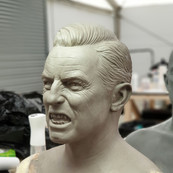 Dracula Fire Mask Sculpture