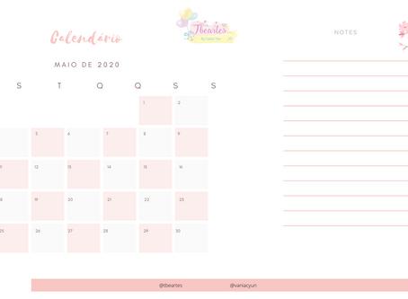 Calendário de Maio Freebie