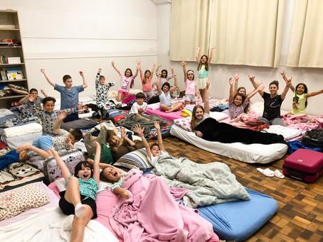 CSP REALIZA ACANTONAMENTO COM TURMAS DO INFANTIL E FUNDAMENTAL