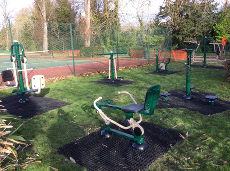 New outdoor gym equipment