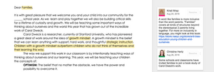 Mindset letter for families