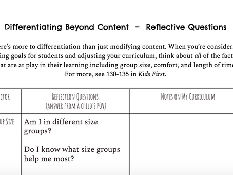 Differentiating Beyond Content