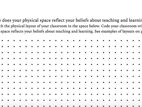 How does your classroom space reflect your beliefs about teaching and learning?