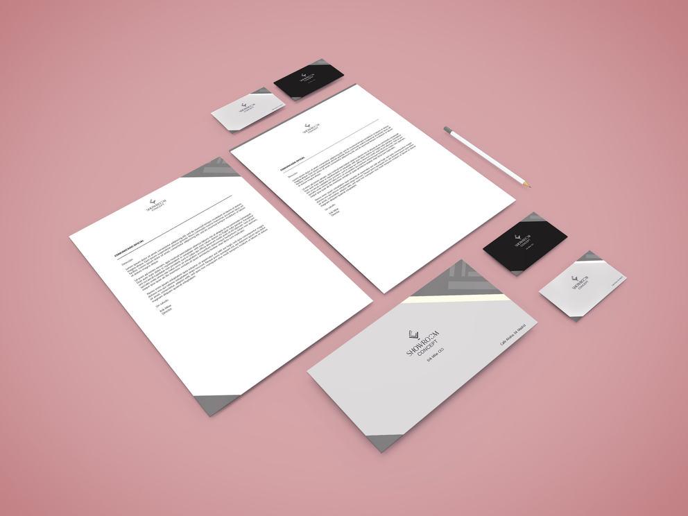 Diseño de papelería de lujo