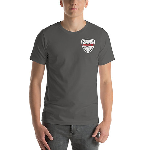 Red Line Yoga For First Responders Short-Sleeve Unisex T-Shirt