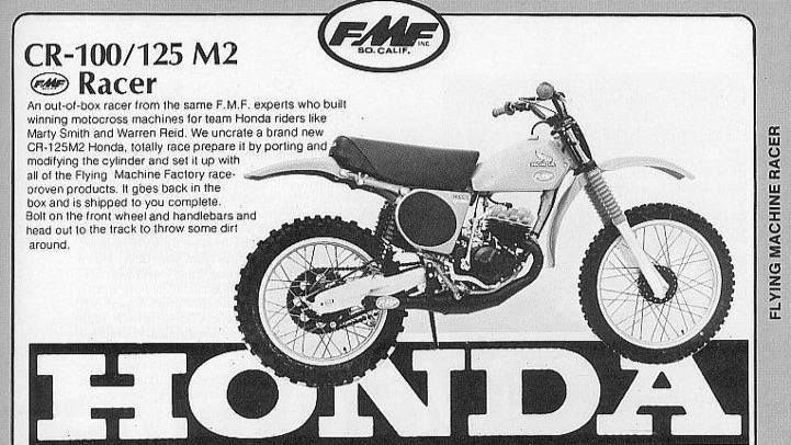 Vintage FMF Honda ads