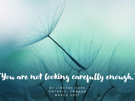 You are not looking carefully enough.