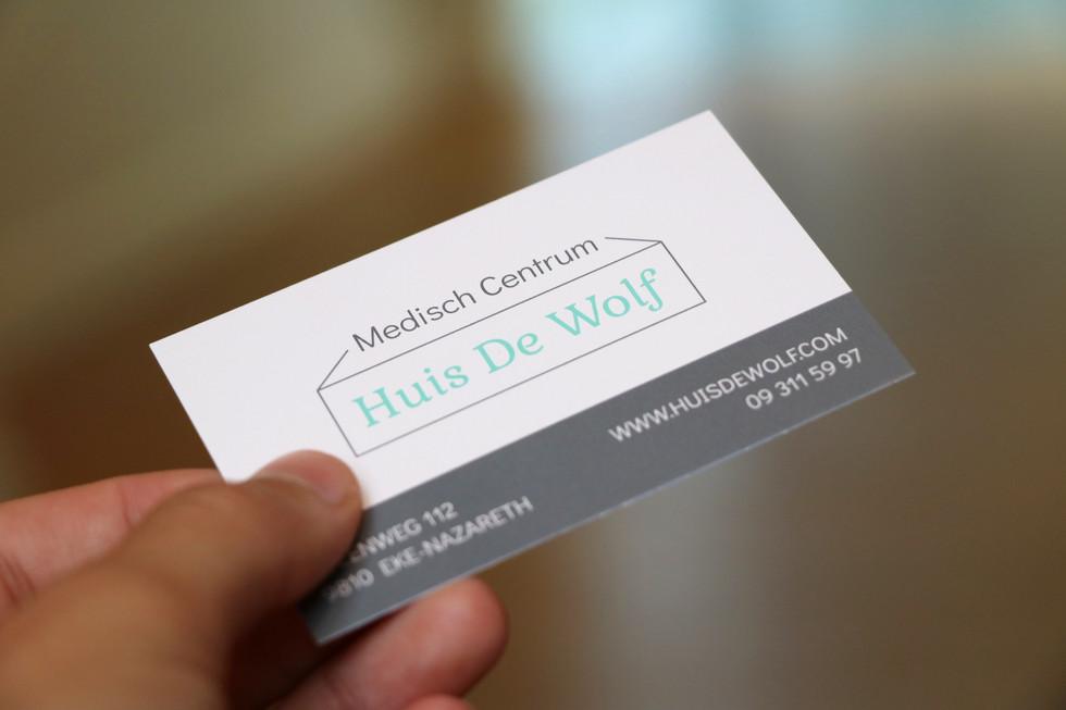 Visitekaartje Medisch Centrum Huis De Wolf