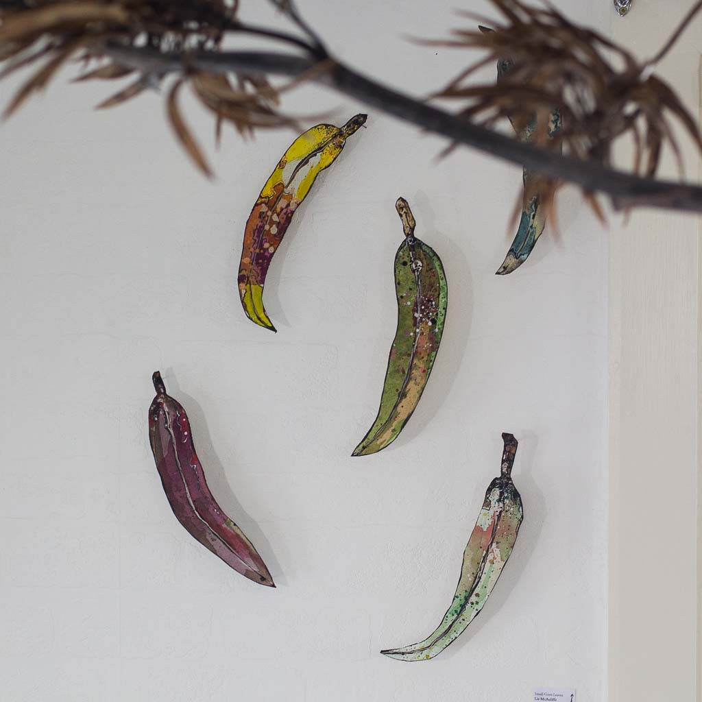Gum leaves. Dimensions variable.