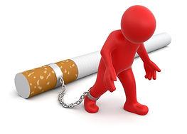 enchainé à la cigarette