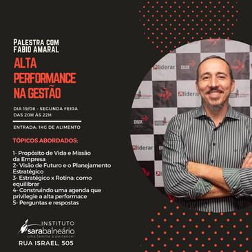Sara Balneário promove palestra com coach sobre Alta Performance