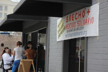Mercado Solidário foi inaugurado neste sábado na Sara Balneário