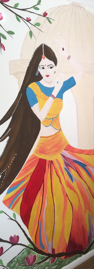 Dancing woman mural
