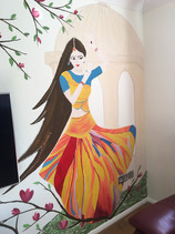 Indian dancing woman