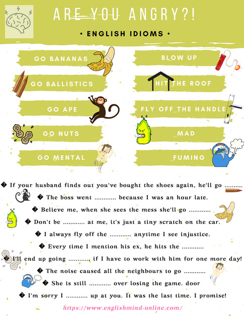 Are you upset? Eglish Idioms to express anger.
