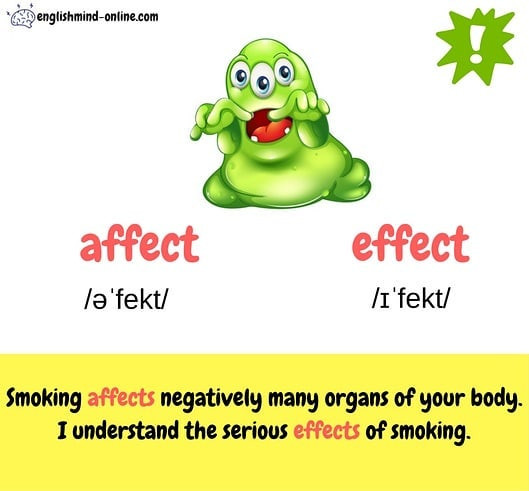Affect vs Effect - Confusing words in English
