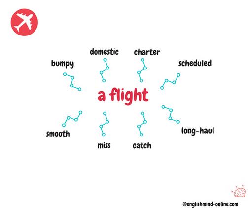 flight vocabulary in English.