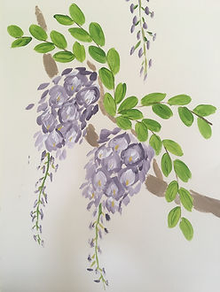 Wisteria tree flowers