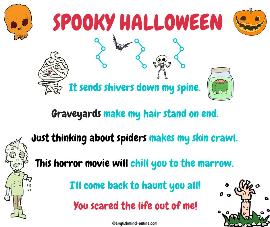 Halloween Advanced English Vocabulary Idioms