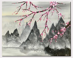 mountains_with_cherry_blossoms