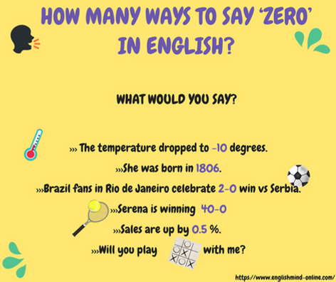 How to say 'zero' in English