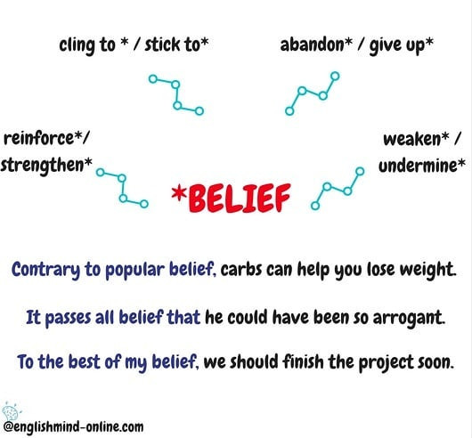 ✳Learn English Effectively👉 Chunks - belief