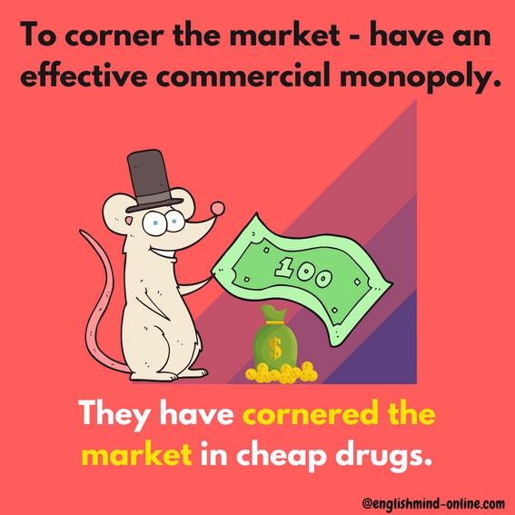 business English idioms - market - Learn English Visually