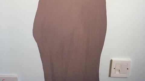 Baby girl rursery room tree mural - video
